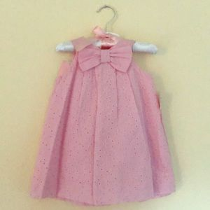 NWT Macy's First Impressions Pink Eyelet Dress 2pc